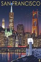 San Francisco Night Framed Print