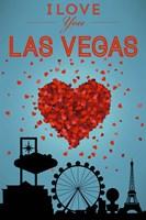I Love Las Vegas Framed Print