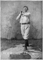 Vintage Baseball 23 Framed Print