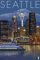 Seattle Night Fine Art Print