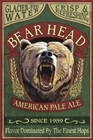 Bear Head Pale Ale Framed Print