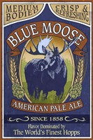 Blue Moose Pale Ale Framed Print