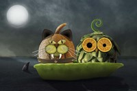 Owl and Cat Fine Art Print