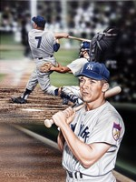 Mickey Mantle The Mick. Fine Art Print