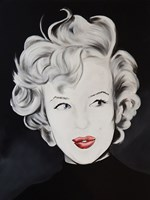 Kissy Face Marilyn Framed Print
