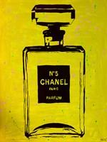 Chanel Pop Art Yellow Chic Fine Art Print