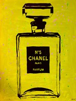 Chanel Pop Art Yellow Chic Framed Print