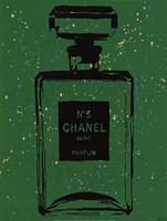 Chanel Pop Art Green Chic Fine Art Print