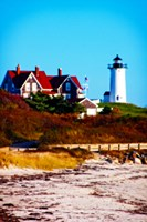 Nobska Lighthouse Portrait Fine Art Print