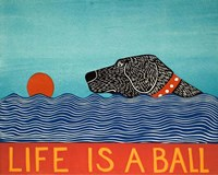 Life is a Ball Black Fine Art Print