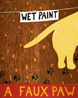 A Faux Paw Yellow Fine Art Print