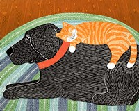 Catnap Striped no Bubble Fine Art Print