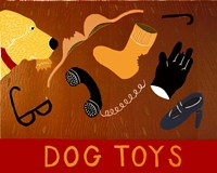 Dog Toys Yellow Fine Art Print