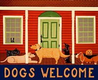 Dogs Welcome HSH II Fine Art Print