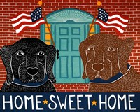 Home Sweet Home Black Choc Fine Art Print