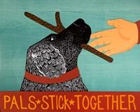 Pals Stick Together Black Fine Art Print