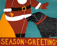 Seasons Greetings Black Fine Art Print