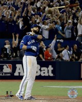 Jose Bautista three-run Home Run Game 5 of the 2015 American League Division Series Fine Art Print