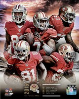San Francisco 49ers 2015 Team Composite Fine Art Print