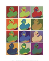 Pop Art Ducky Framed Print