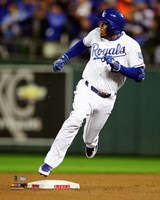 Alcides Escobar Inside the park Home Run Game 1 of the 2015 World Series Fine Art Print