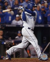Mike Moustakas RBI Single Game 2 of the 2015 World Series Fine Art Print