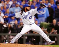 Johnny Cueto Game 2 of the 2015 World Series Fine Art Print