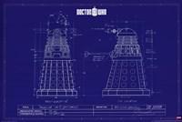Doctor Who - Dalek Blue Print Fine Art Print