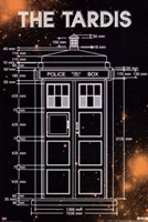Doctor Who - Tardis Measurements Fine Art Print