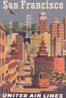 Fly to San Francisco I Fine Art Print