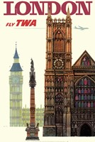 Fly to London Fine Art Print
