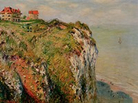 Cliff at Dieppe, 1882 Fine Art Print