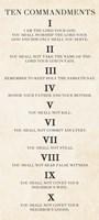 Ten Commandments - Roman Numerals Fine Art Print