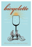 Bicyclette Recipe Fine Art Print