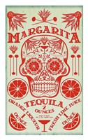 Margarita Recipe Fine Art Print