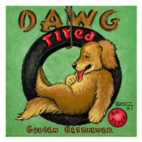 Dawg Tired Framed Print