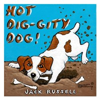Hot Dig-Gity Dog! Framed Print