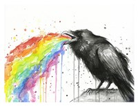 Raven Tastes the Rainbow Framed Print
