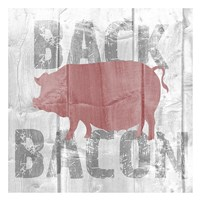 Back Bacon Framed Print