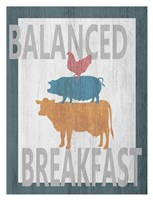 Balanced Breakfast One Framed Print