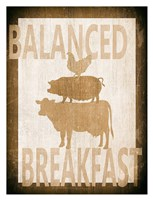 Balanced Breakfast Two Framed Print