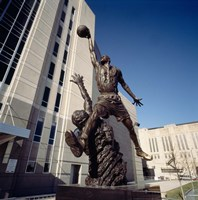 Michael Jordan Statue, United Center, Chicago Fine Art Print