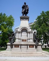 Governor Thomas A. Hendricks Monument at Indiana State Capitol Building Fine Art Print