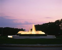 Mecom Fountain, Houston, Texas Fine Art Print