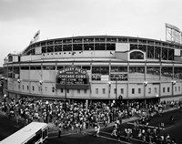 Wrigley Field, Chicago, Cook County, Illinois Fine Art Print