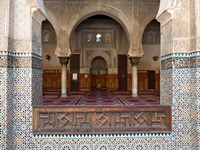 Mihrab of the Bou Inania Madrasa, Fes, Morocco Fine Art Print