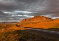 Sunset over Road, Borgarfjordur, Iceland Fine Art Print