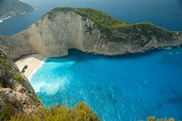 Shipwreck Bay, Zakynthos, Ionian Islands, Greece Fine Art Print