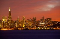 San Francisco Financial District at Dusk, San Francisco, California Fine Art Print