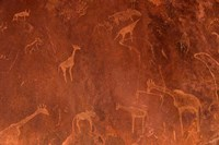 Cave Paintings by Bushmen, Damaraland, Namibia Fine Art Print